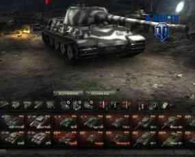 Танки в ангаре два ряда World of Tanks