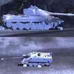 Белые трупы танков, сбитые гусеницы и вагоны для WoT 0.9.17.1 / 0.9.17