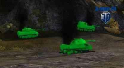 Цветные трупы танков