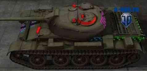 Штриховые шкурки пробития для World of Tanks