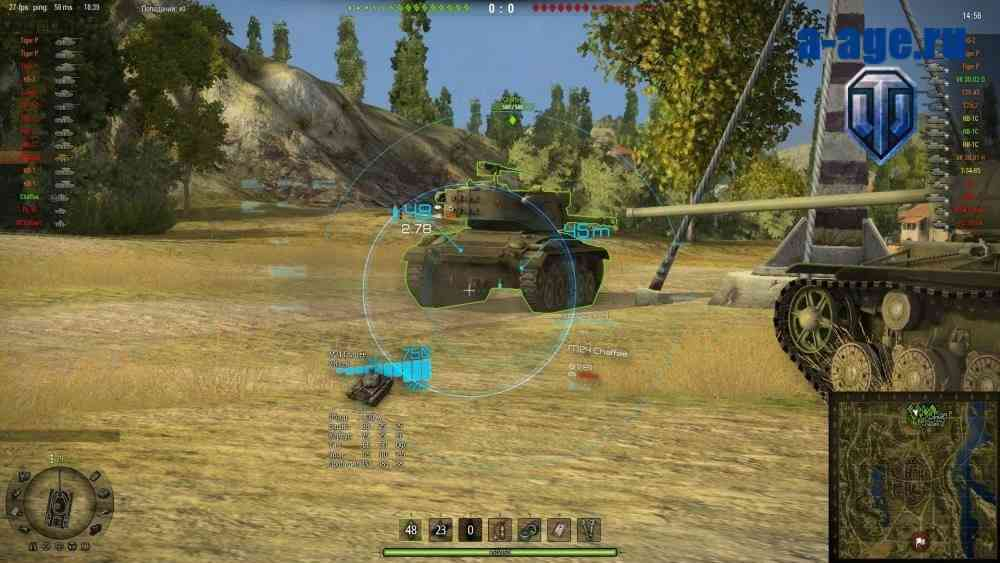 Корейский прицел для World of Tanks в аркадном режиме