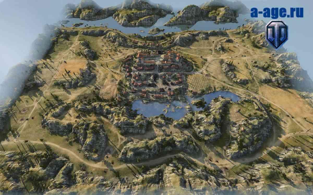 Свободная камера на карте монастырь с высоты птичьего полета