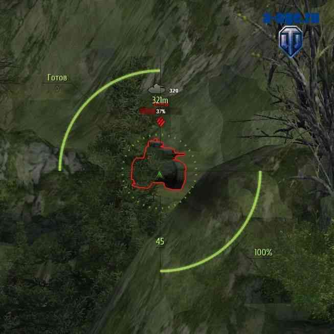 Маркер танка с дальностью обзора World of Tanks