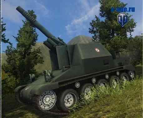 Французская артиллерия WoT с раскрашенными катками