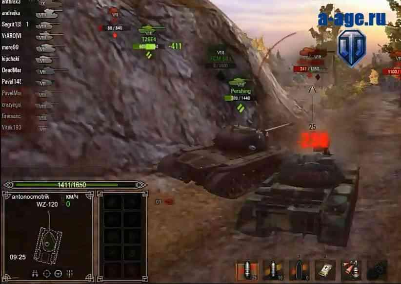 Панель повреждений World of Tanks в стиле role playing game рпг