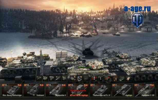 Зимний мод для World of Tanks - ангар