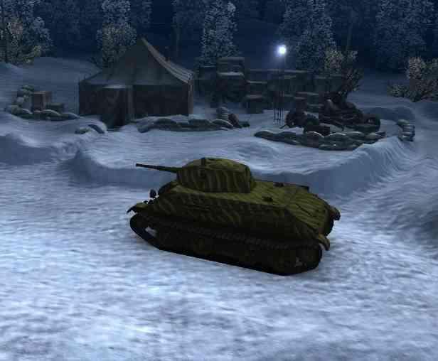 Легкий танк ЛТП в зимнем ангаре