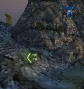 Индикатор ближайшего противника показыввает отсутствие опасности