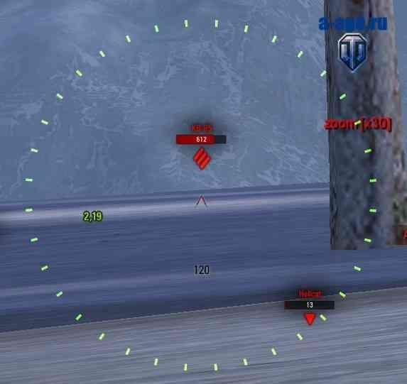 Многократное приближение в снайперском прицеле
