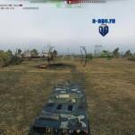 Прицел с УГН и инфо-панелью для World of Tanks 0.9.17