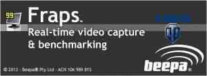 Программа для записи видео World of Tanks и оценки производительности компьюетра Fraps