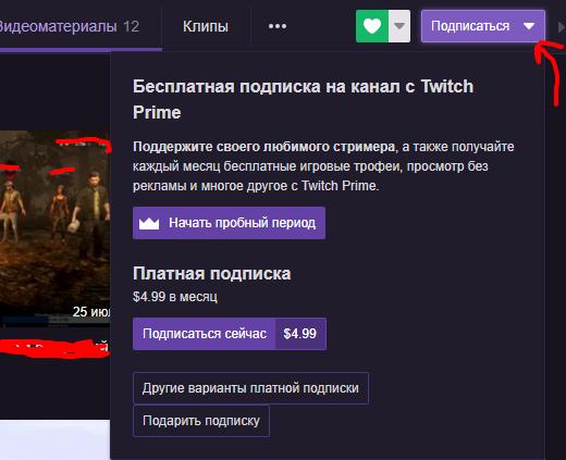 Подписка на Twitch Prime